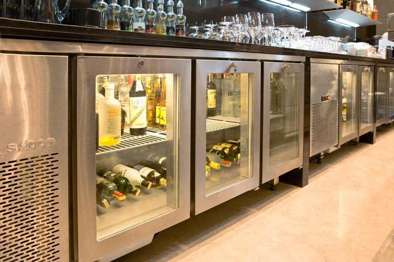Örnek Bir otel mutfak projesi Bar Bölümü İçecek Alanı