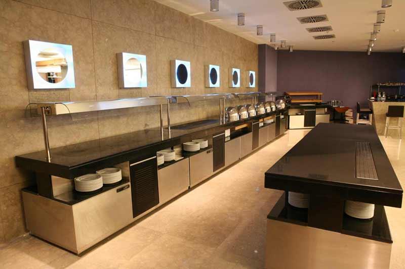 Örnek Bir otel mutfak projesi Servis Alanı