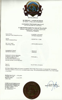 S2000 QA Technic certificate of confedence